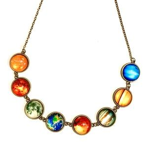 🔥 2/$16 New Solar System Planets Necklace